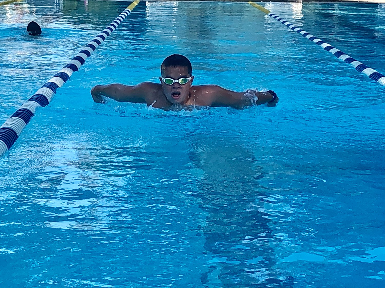 Jason Diaz was one of five young Lynbrook residents who got in the pool early on Aug. 17