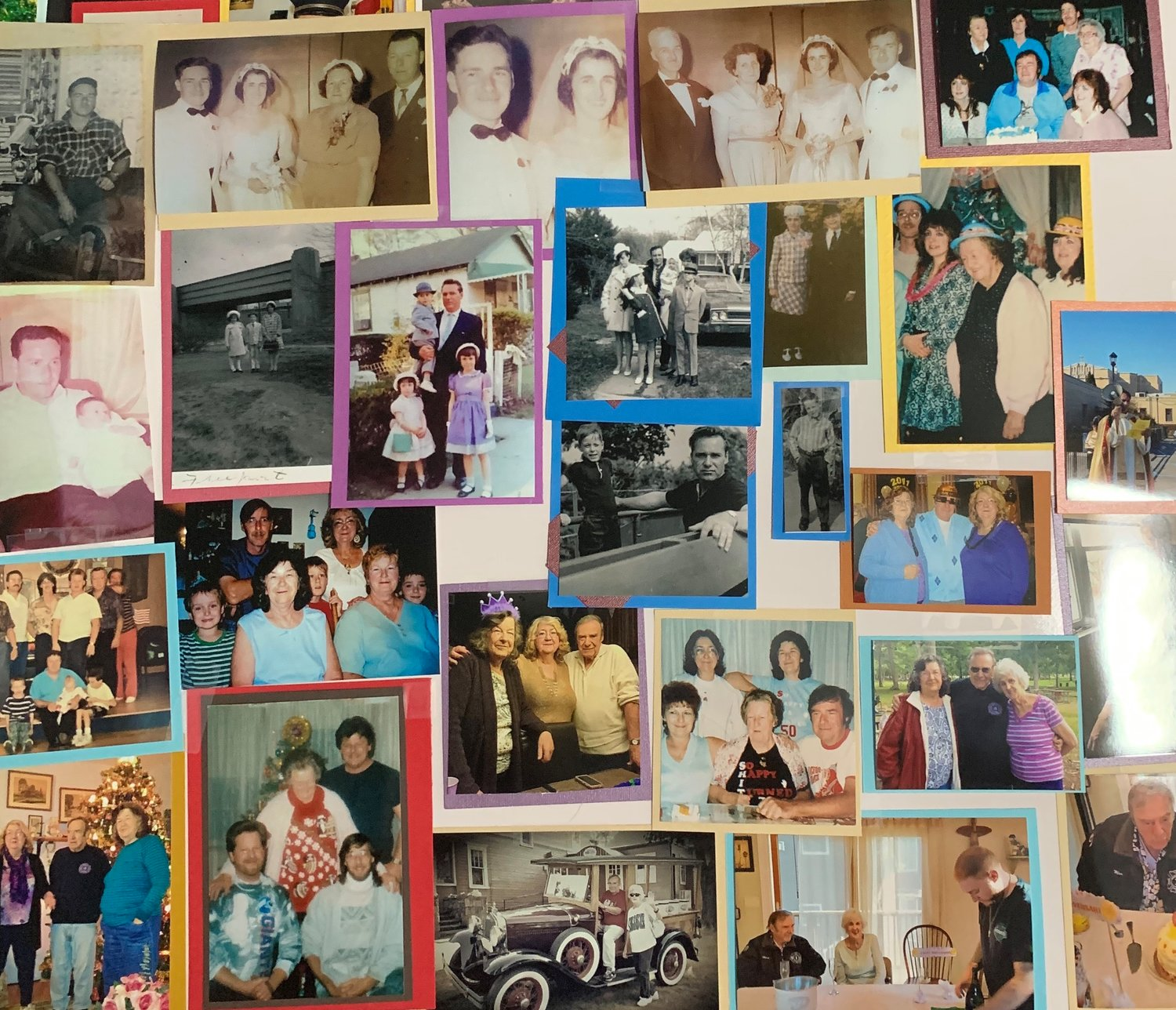 The family of Abrams compiled pictures taken throughout his life into a collage