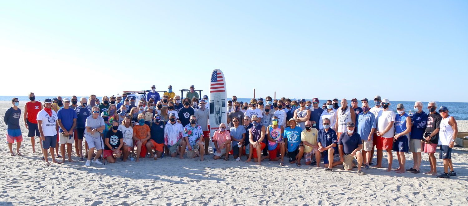 More than 70 lifeguards and local officials gathered at National Boulevard for a ceremony.