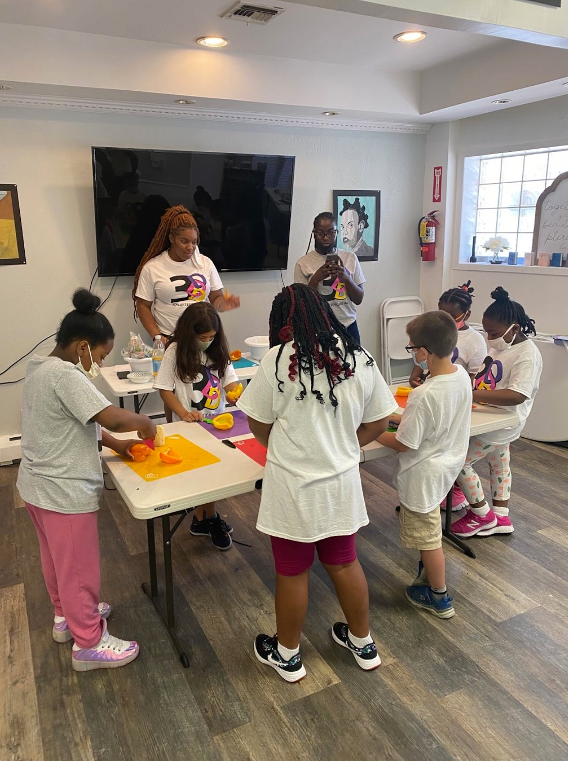 Children attending 3D's Aftercare Inc. in Baldwin tried their hands at cooking. The center, which has been adjusting to the pandemic, offers a variety of fun activities and courses to hone children's skills.