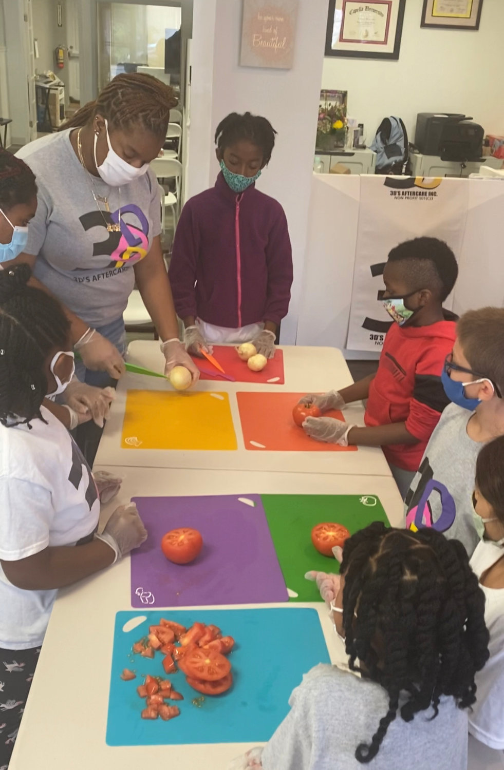 The 3D's center offers cooking classes for children to learn basic skills.
