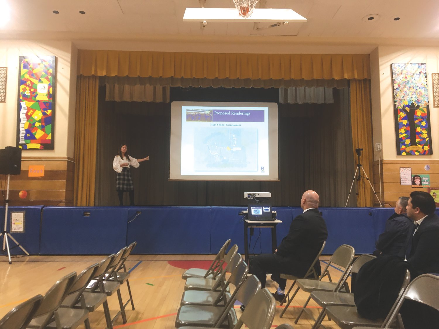 Superintendent Dr. Shari Camhi presented plans for Innovation 2020 at a Jan. 8 school board meeting at Plaza Elementary School.