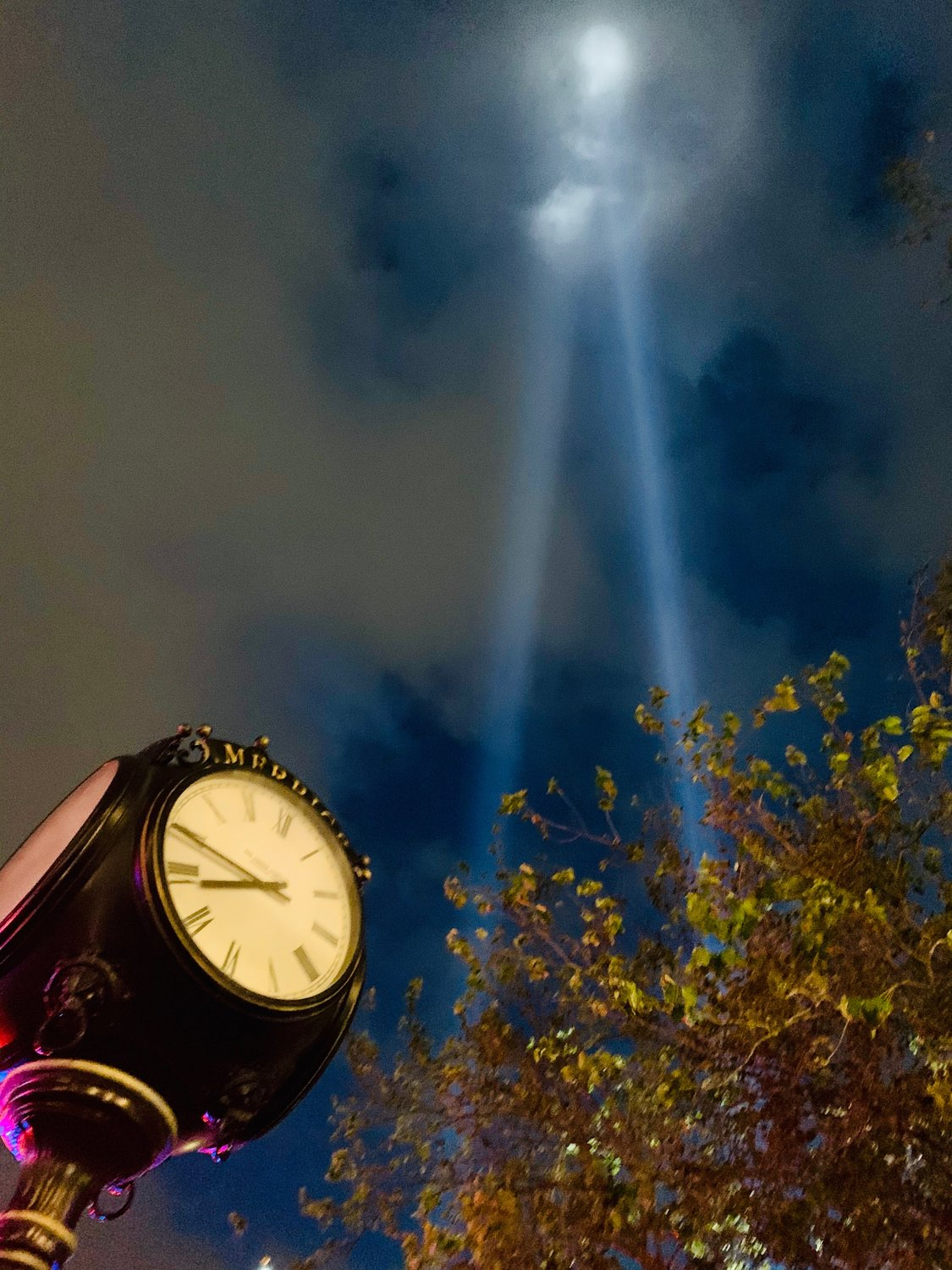 An initial decision to cancel this year's Tribute in Light at the World Trade Center inspired four local firemen to start a GoFundMe page, which ensured the twin beams would shine in Merrick no matter what.