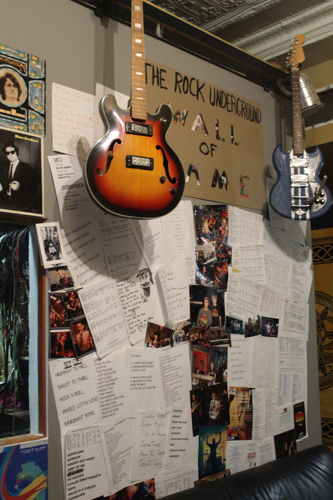 The Wall of Fame compiles musical relics from the Rock Underground's 10-year history.