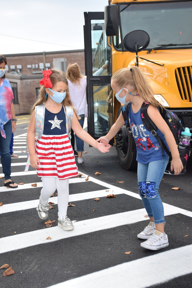 Students arrived at Birch School on Sept. 11 to finish up their first week back to school within the Merrick School District.
