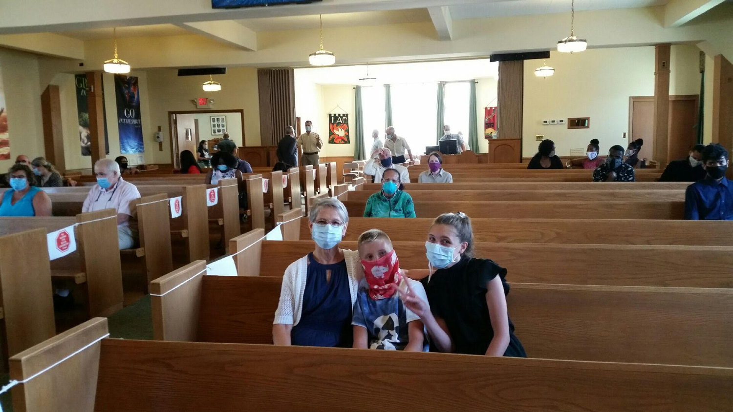 Lynbrook Baptist Church opened with indoor services at the end of July.