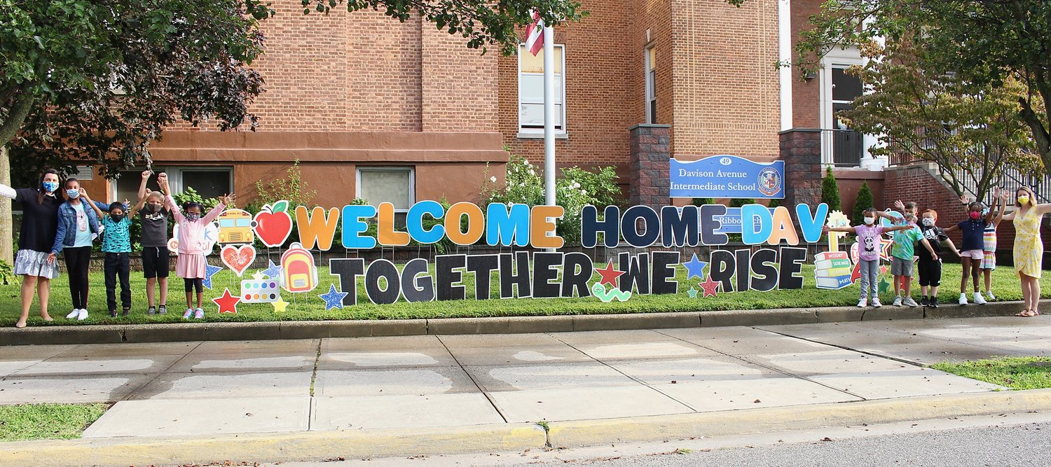 Students and staff of Davison Avenue Intermediate School were welcomed back to the first day of school on Sept. 9.