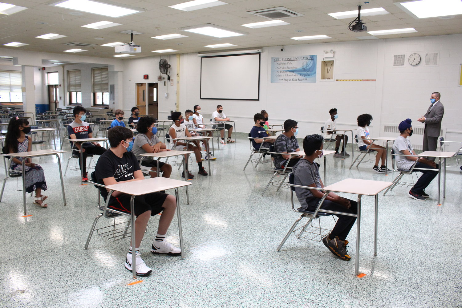 At orientation late last month, Memorial Junior High School seventh-graders had their first taste of in-person schooling since the coronavirus forced the closure of all schools in mid-March.