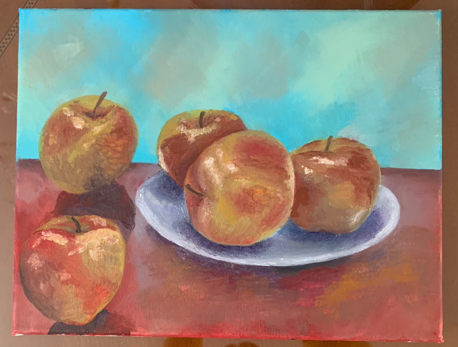 The author's depiction of apples symbolizes a sweet Jewish New Year.