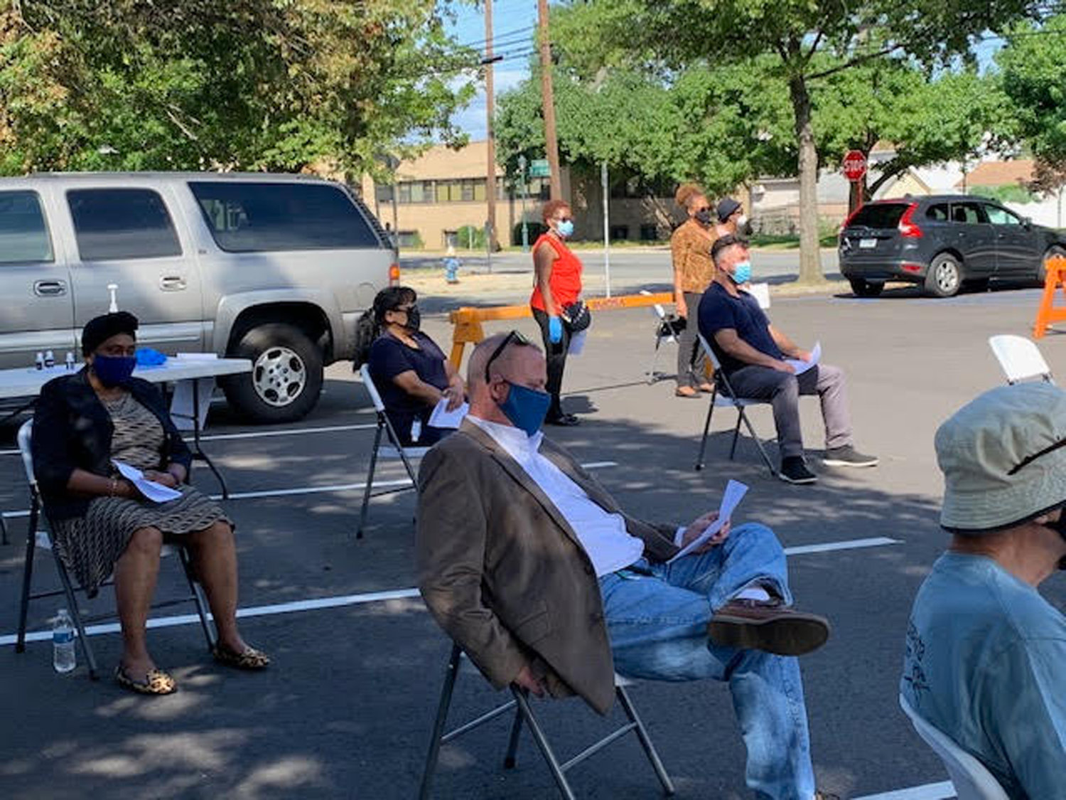 The Valley Stream Presbyterian Church opened for in-person services out doors for the first time on Saturday, Sept. 12.