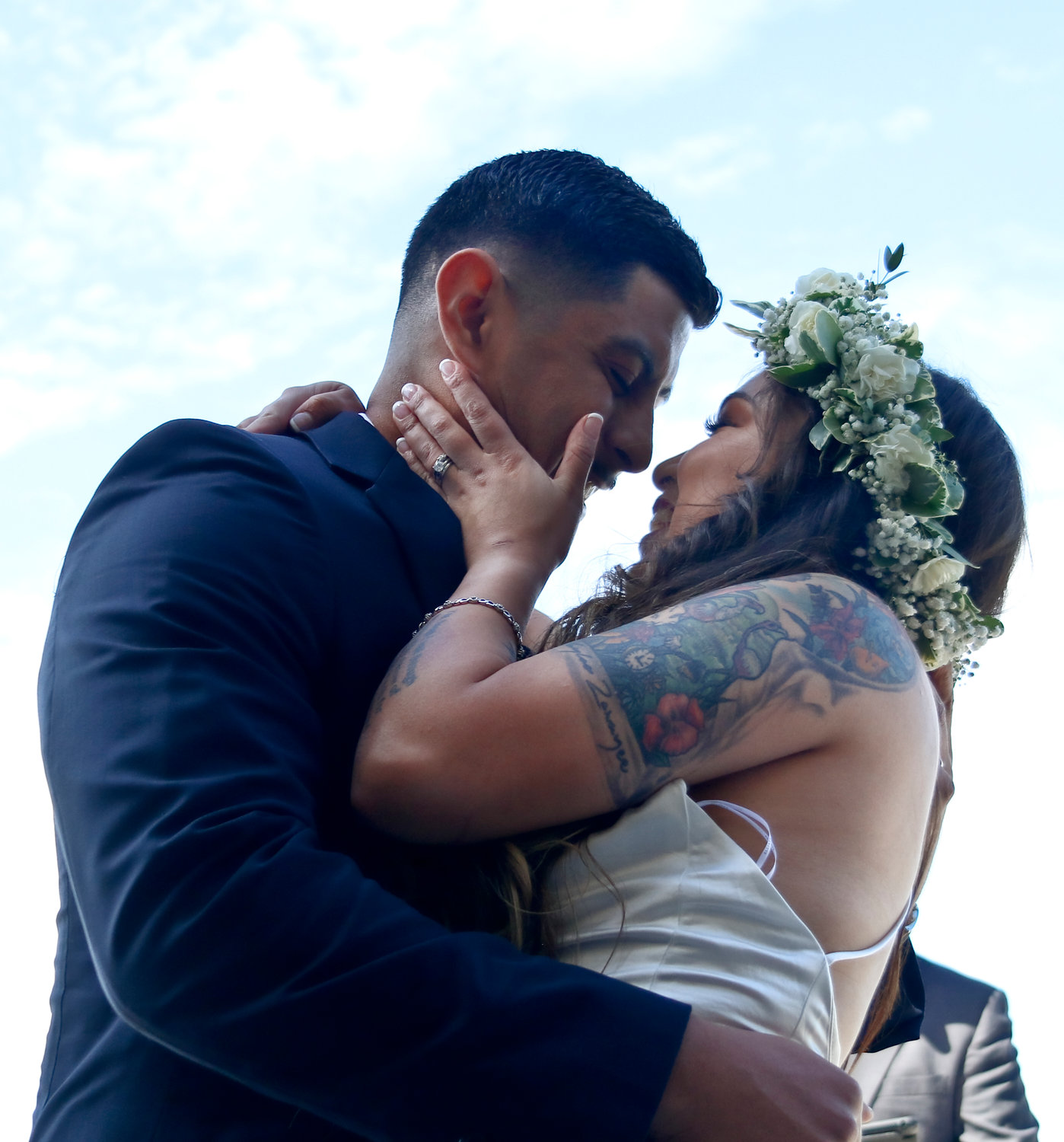 Ryan Chavarria, 25, and Samantha Del Bosque, 24, both sergeants in the U.S. Marine Corps., married on Sept. 20 during a small ceremony at the Merchant Marine Academy, in King's Point.
