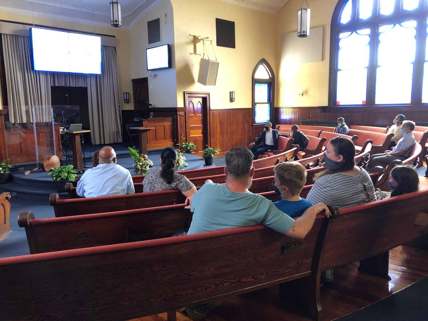 On Sept. 13, almost two-dozen people gathered for Edge City Church's first in-person launch service in Lynbrook.