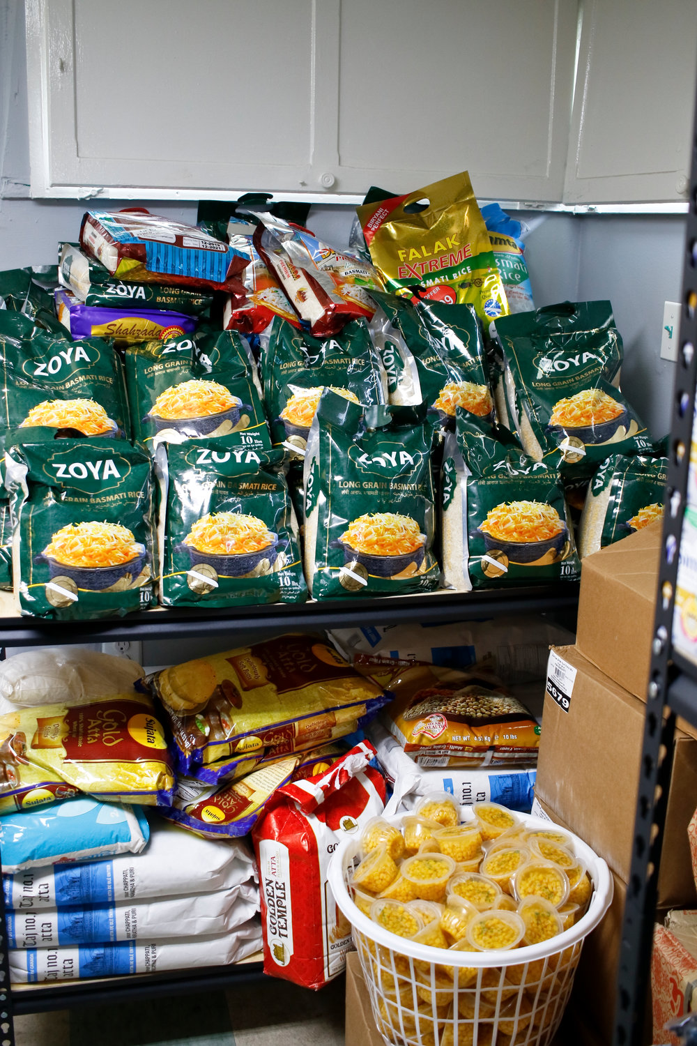 The food pantry at Masjid Hamza opened on Aug. 31 and has so far helped feed nearly 400 families in need.