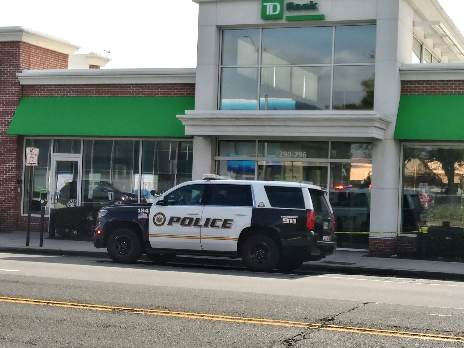 A man entered T.D. Bank on Merrick Road and demanded cash at about noon today, according to the Rockville Centre Police Department. He was arrested at 3:50 p.m.