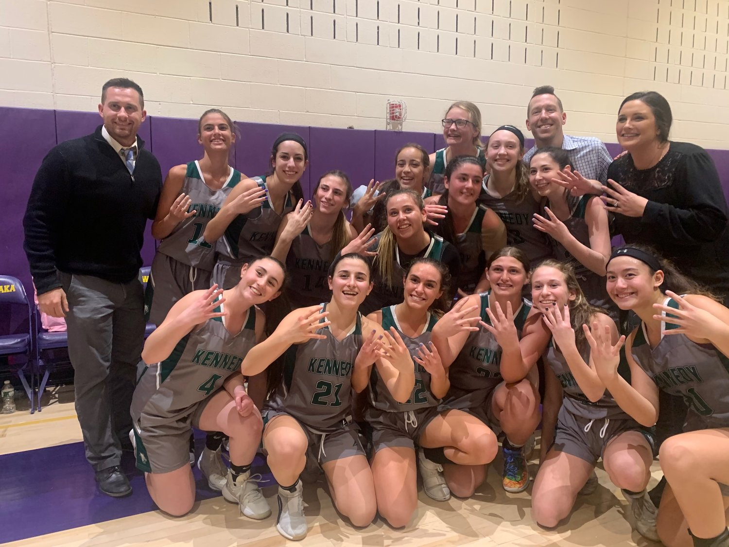 The Kennedy girls' varsity basketball team advanced to the Nassau Class A semifinals this year, the furthest the team has gone in program history.