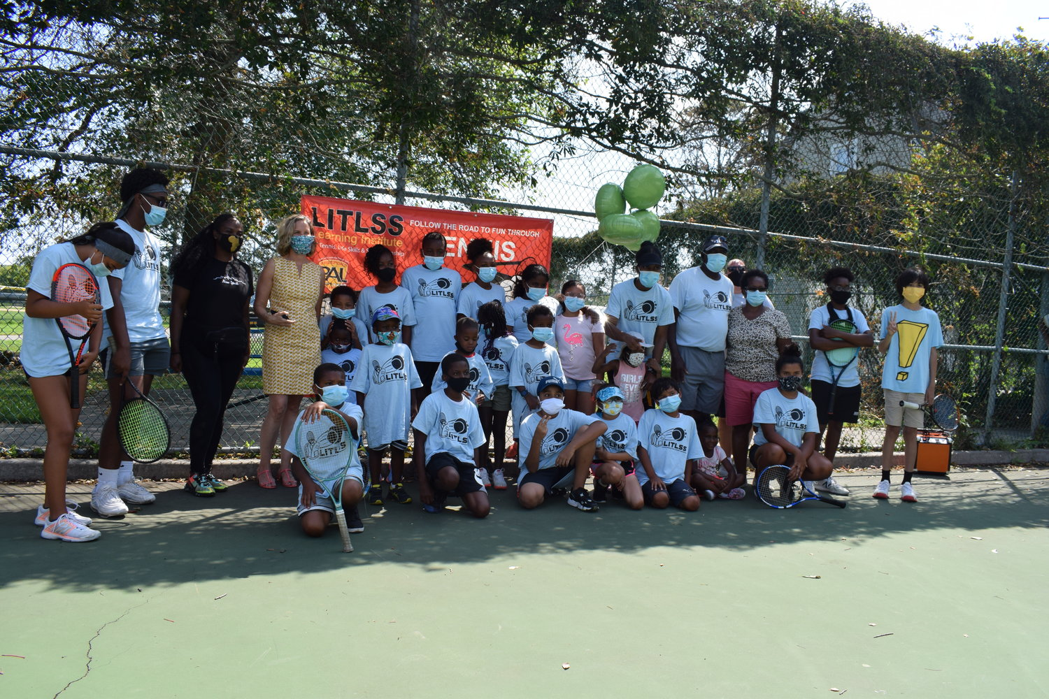 About 20 young people took part in the annual LITLSS tennis summer program with Burgess from July through August.