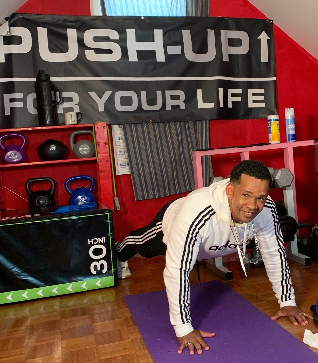 Lancelot Theobald Jr. completed 10,000 push-ups to raise more than $10,000 for the Equal Justice Initiative as part of his Push Up For Your Life campaign.