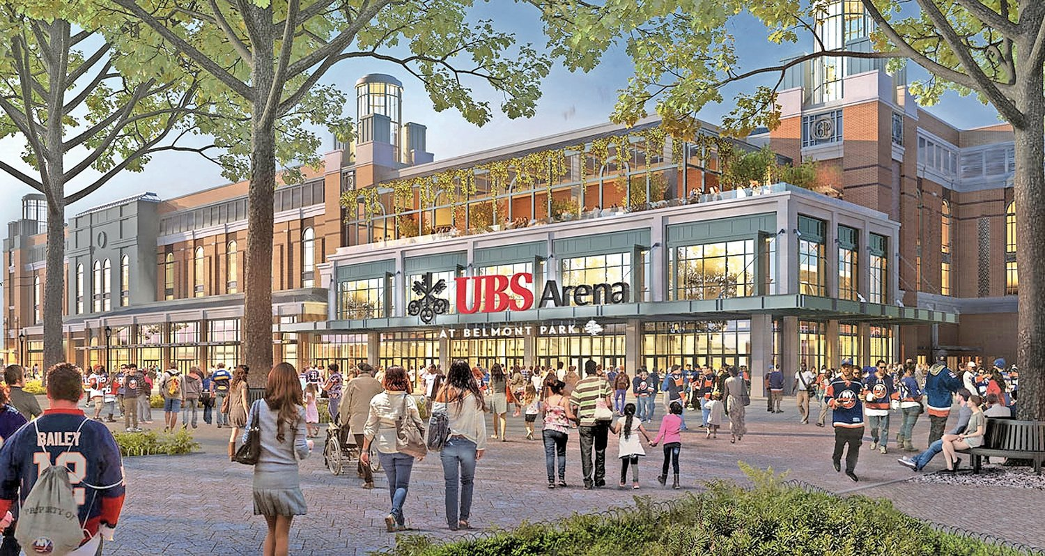 The UBS Arena is expected to open in time for the 2021-22 hockey season.