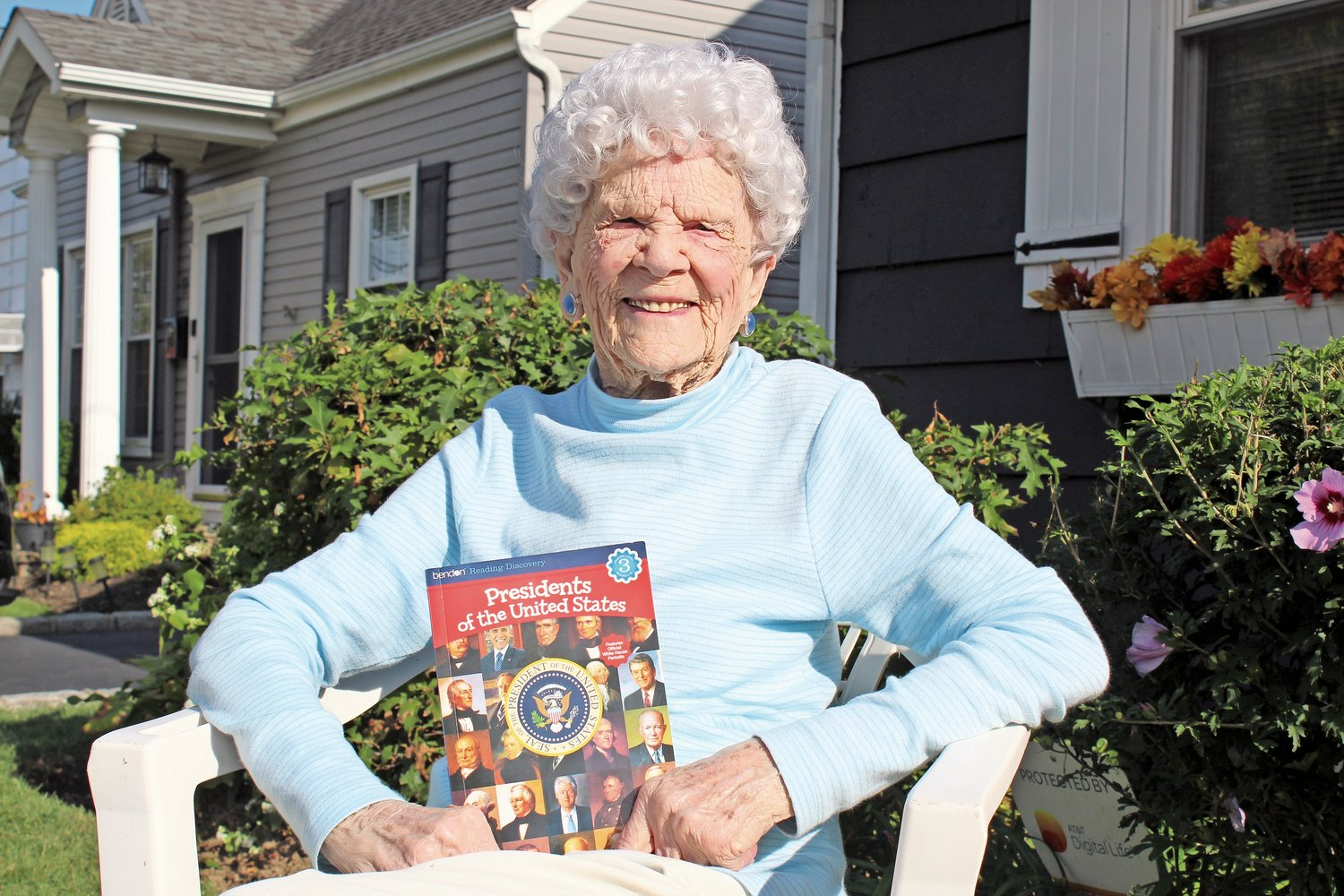 Merrick resident Lucille Munson, who will celebrate her 100th birthday next Wednesday, said she would make it a point to vote in person on Election Day.