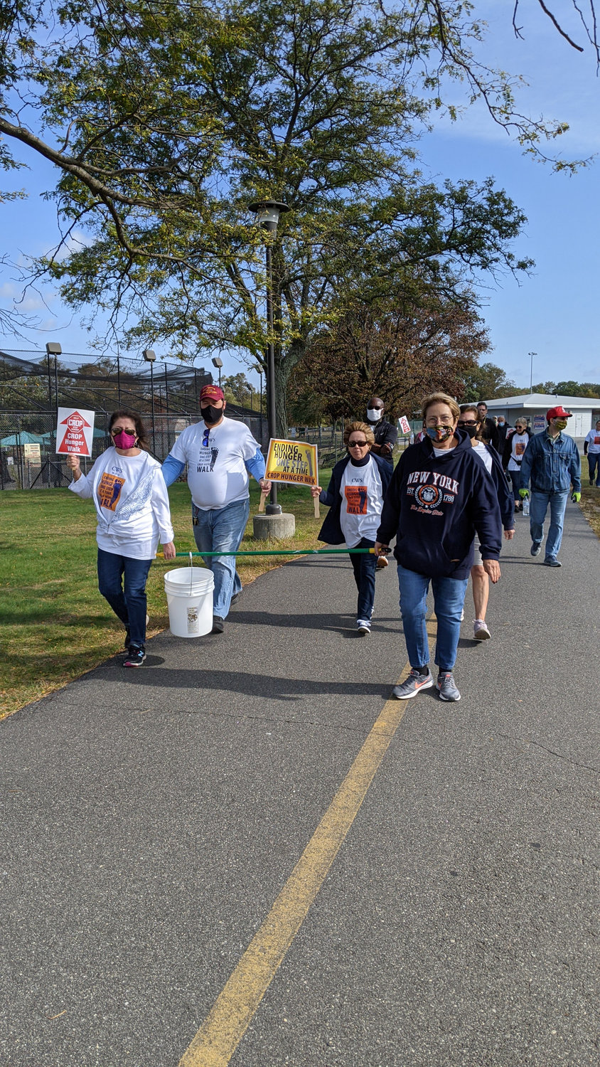 Leaders of the pack: Members of Holy Trinity Orthodox Church in East Meadow in Eisenhower Park last Saturday to raise money for hunger issues at home and overseas.