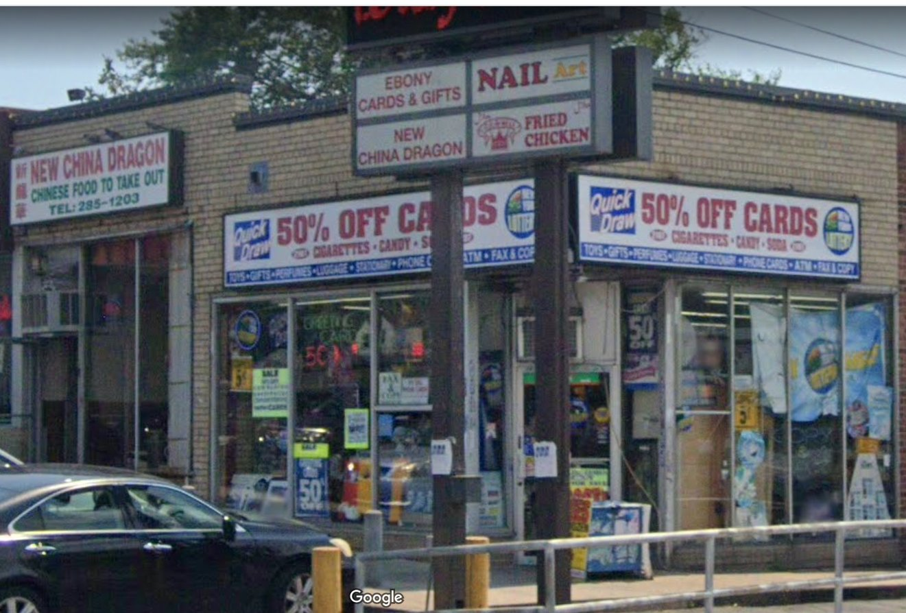 Ebony Cards & Gifts, Inc., at the intersection of Dutch Broadway and Elmont Road, sold a winning Take-5 lottery ticket on Oct. 14.