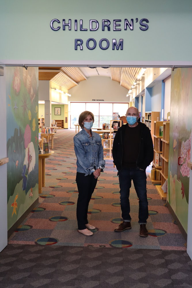 Diane Bondi and Dan Chuzmir, assistant director and director of the Merrick Library, respectively, recently toured the building.