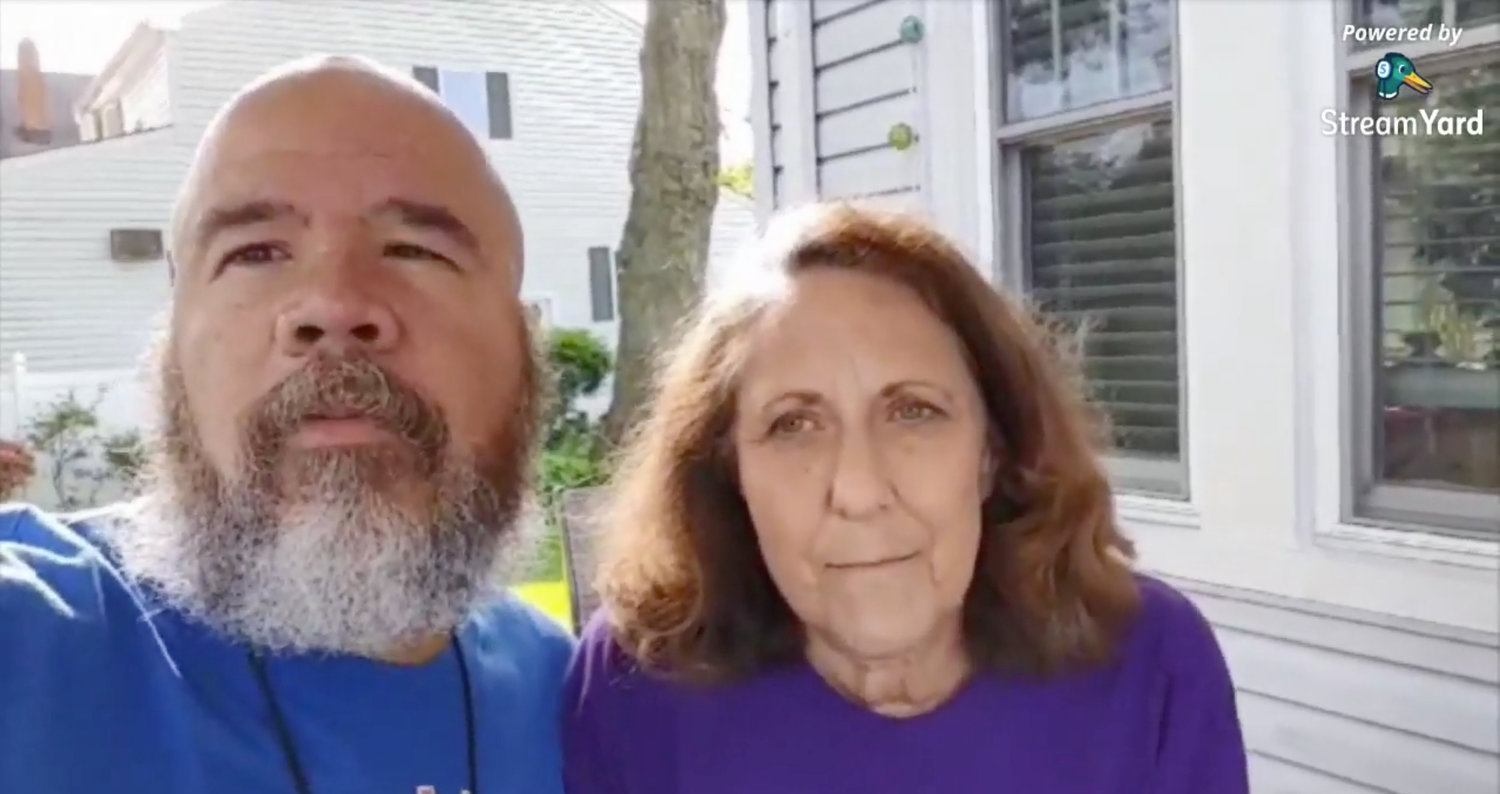 Baldwin residents Abby and Miguel Melendez, who are both cancer survivors and volunteers for the American Cancer Society, helped organize this year's virtual Relay for Life of Baldwin.