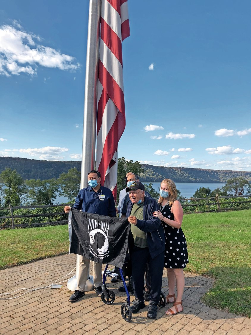 Irving Liebowitz is ready to return to Merrick after recuperating at Hebrew Home at Riverdale, but he isn't leaving without first raising a POW/MIA flag at the Palisade Avenue campus.