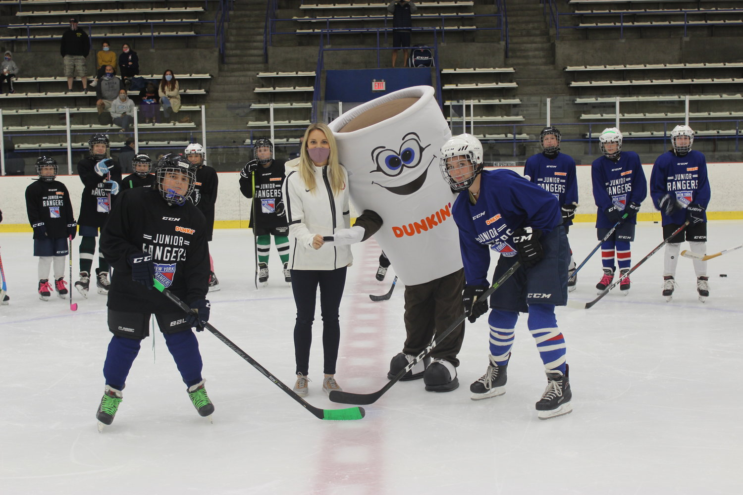 U.S. Olympian Amanda Kessel joined the Junior Rangers Girls' Hockey at the Long Beach Arena for a skills session on Oct. 16. Kessel is a key ambassador of the program.