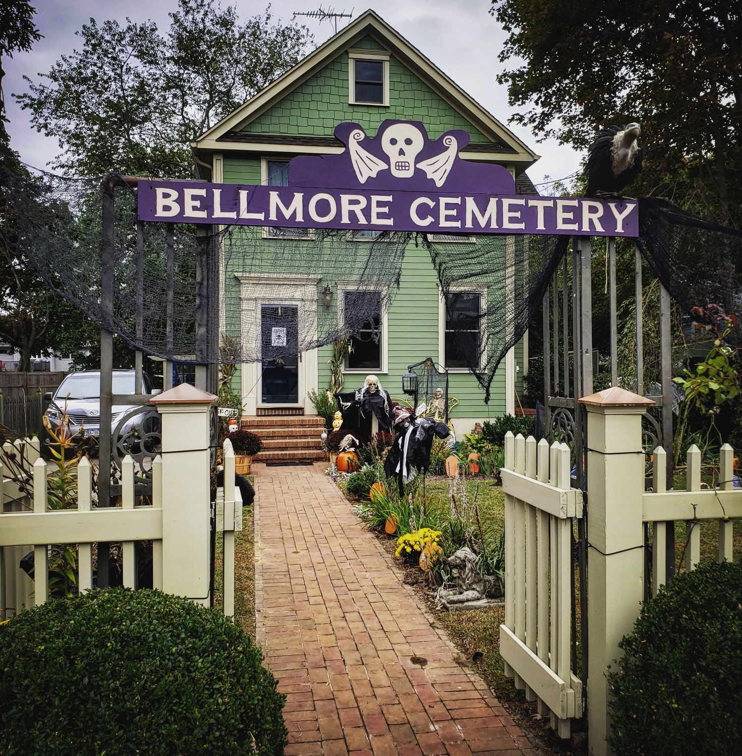 On Oak Street in Bellmore, the Romeo family created a cemetery-style display.