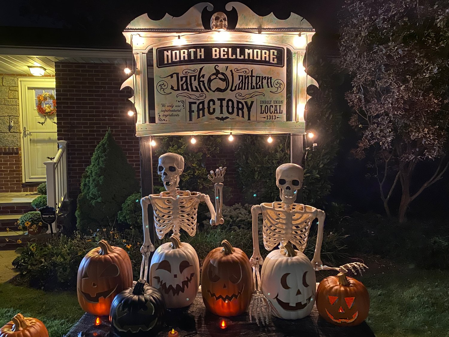 "On Orchard Street in North Bellmore, Samuel Pizarro set up the ""North Bellmore Jack-O'-Lantern Factory."""