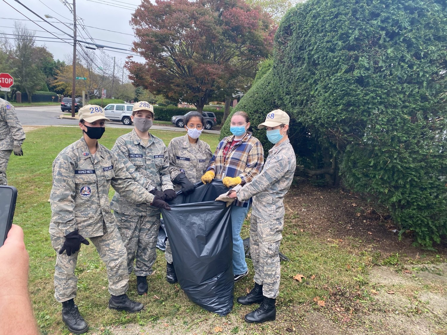 There were roughly 60 volunteers, many of them from the Cadet Program of the U.S. Civil Air Patrol and Freeport High School's Junior Reserve's Officer Training Corps.
