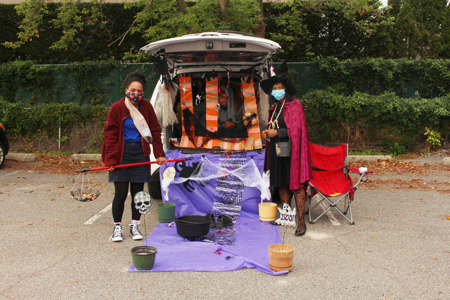 Local scouts and community members sporting Halloween costumes attended the Baldwin BSA Troop 824 and St. Christopher's Church's 6th annual Trunk or Treat fundraiser, benefiting the church pantry, on Oct. 25.