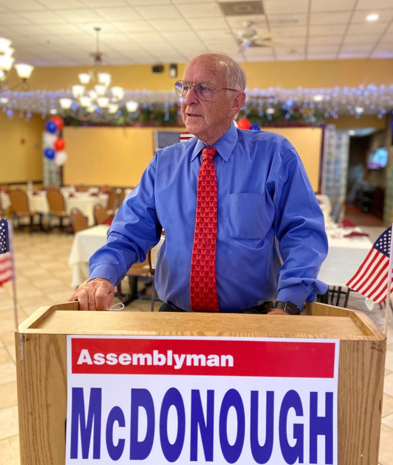 In New York's 14th Assembly District, longtime Assemblyman David McDonough, a Republican from North Merrick, retained his seat in Albany, winning 58 percent of the vote.