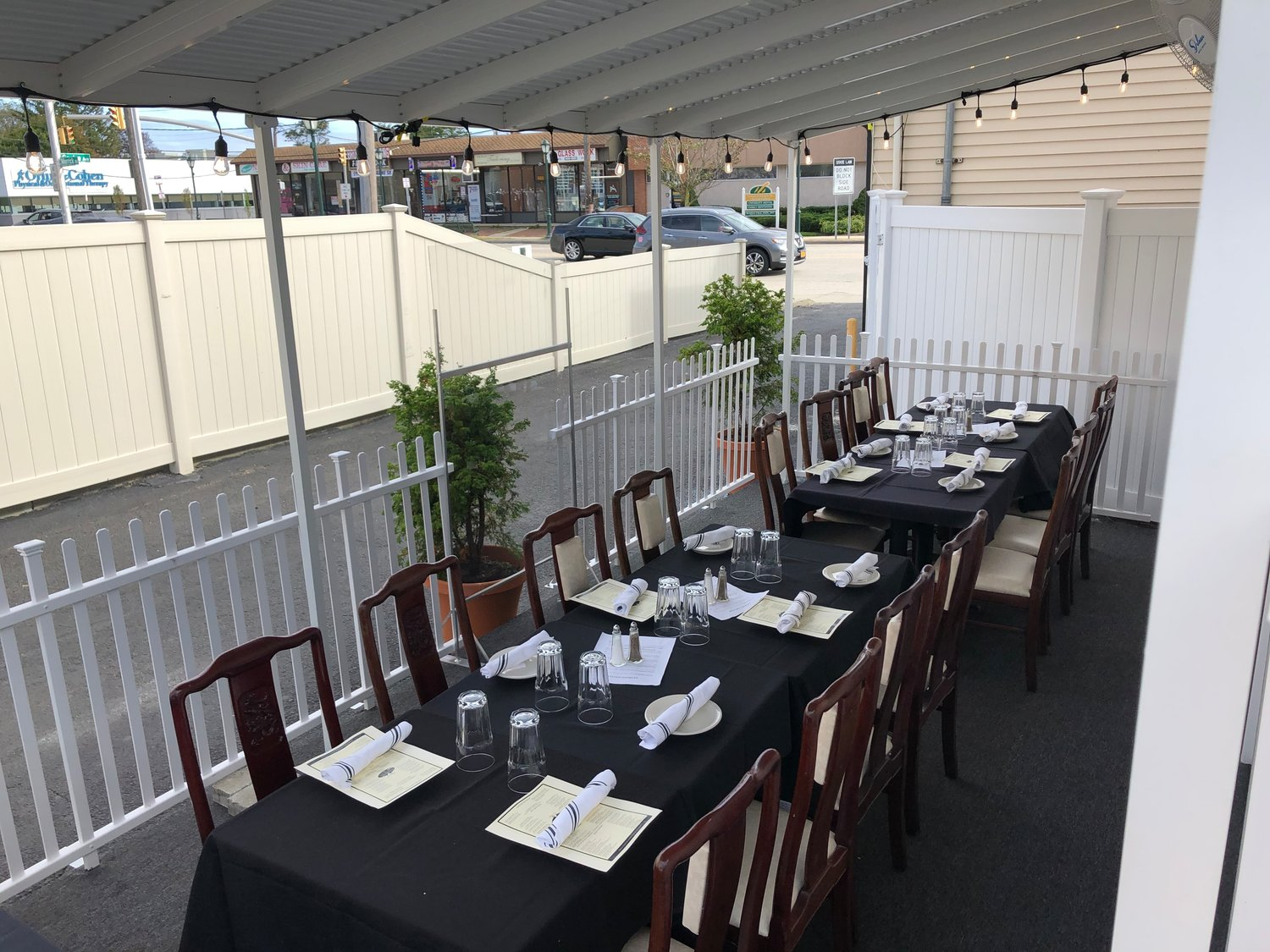 At Anthony's Kitchen & Cocktails in Bellmore, space heaters have kept diners warm within its outdoor patio.