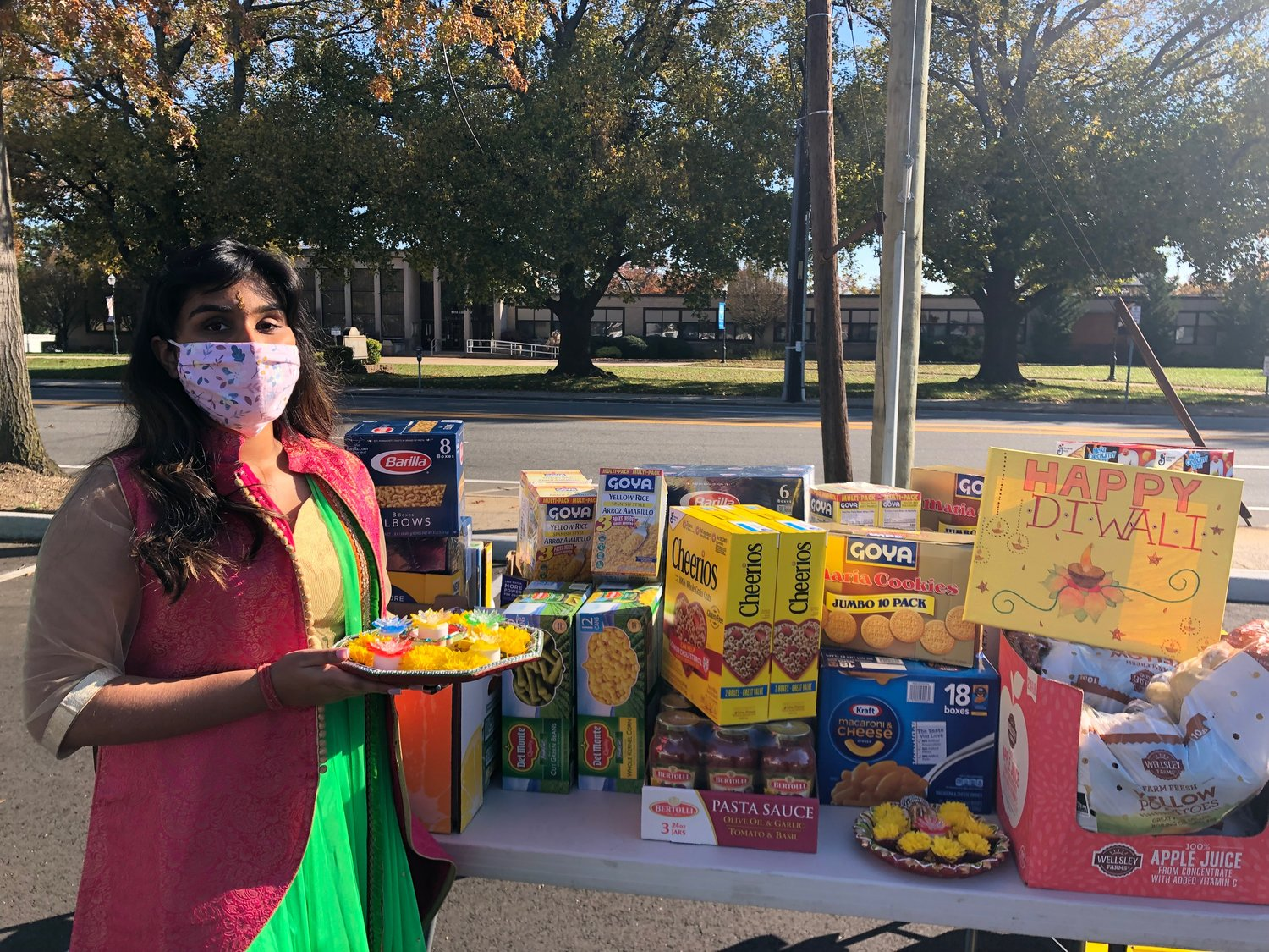 As a member of the Valley Stream Diwali Coalition, Valley Stream resident, Abigail Arjune, helped donate roughly $200 worth of food to Long Island Cares on Saturday Nov. 7.