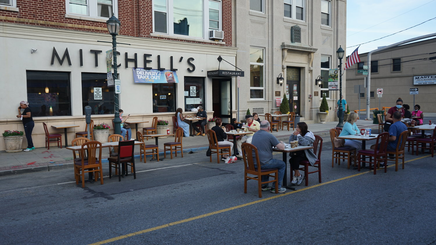 Mitchell's Restaurant, on Rockaway Avenue, took advantage of on-street dining during the summer, but with the winter months approaching, its customers have been driven indoors, where capacity is limited to 50 percent.