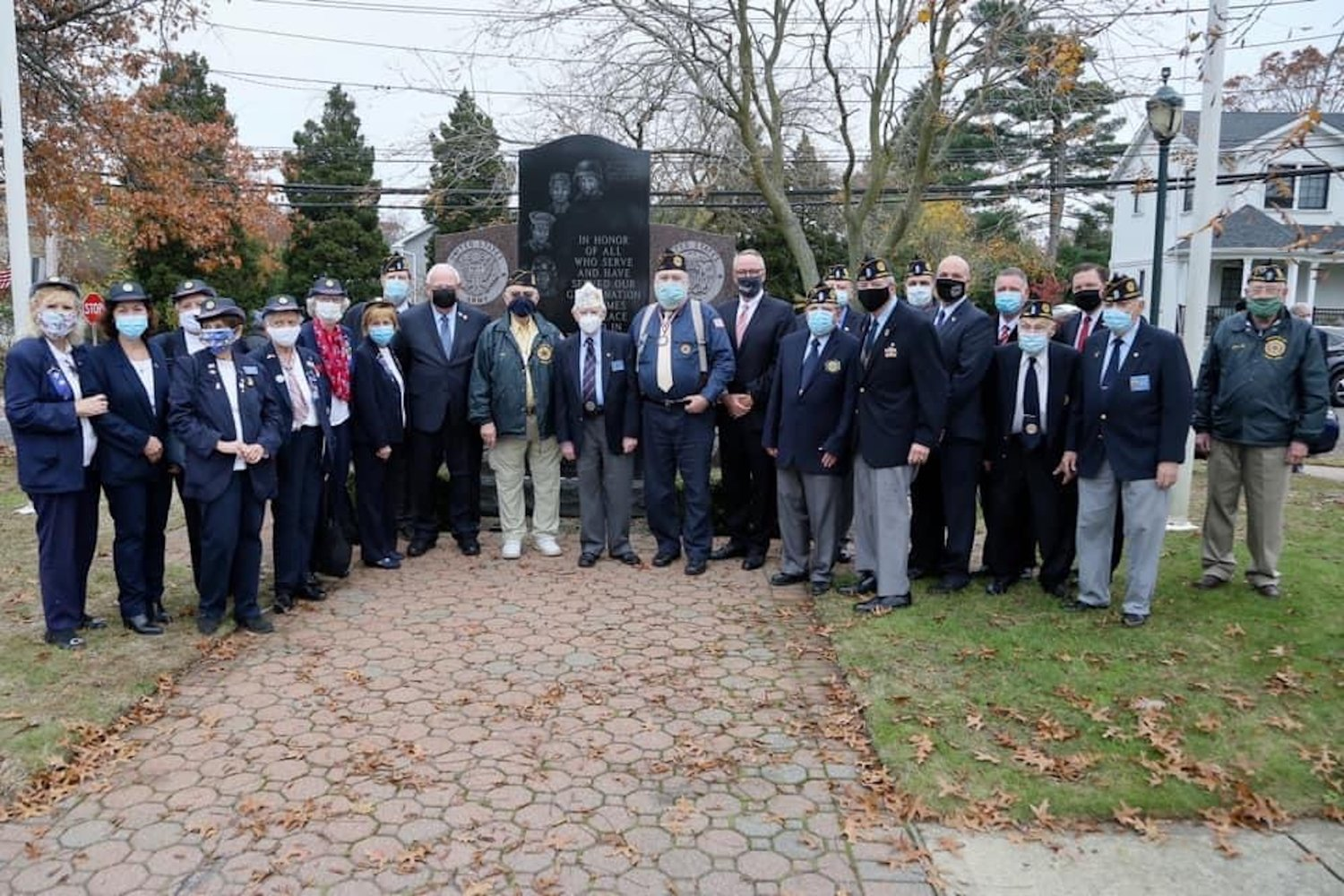 Local service members gathered at Veterans Memorial Park in Merrick on Nov. 11 to pay tribute to those who have answered the call to service.