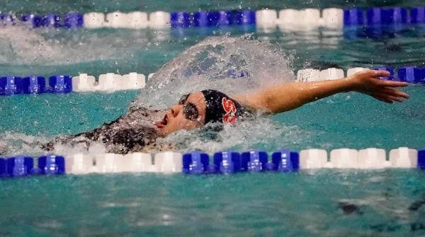 Kiara Kennedy earned All-America honors in the 100-yard backstroke and now holds three SSHS swim records.