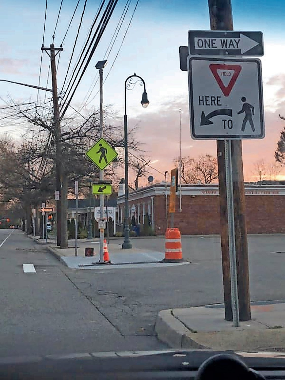 The Town of Hempstead installed flashing lights at the crosswalk on Nassau Boulevard in April.