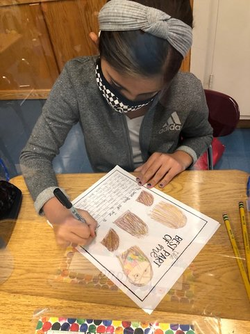 Alexandra Facenda, a fifth-grade student at McVey Elementary School in the East Meadow School District, wrote about the best parts of herself as part of a school-wide initiative focusing on social-emotional learning called the McVey Kindness Project.