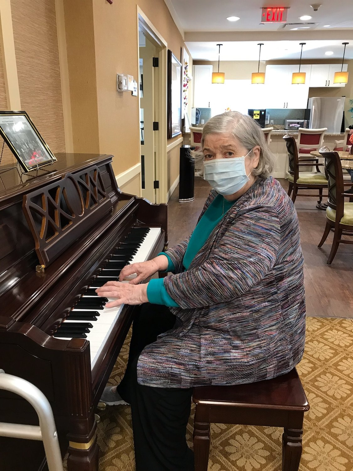 Atria Glen Cove resident Josephine Gencorelli often provides musical entertainment for fellow residents at the pianist.