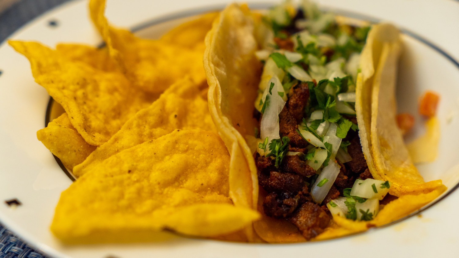 The restaurant offers traditional and authentic Mexican tacos and other dishes.