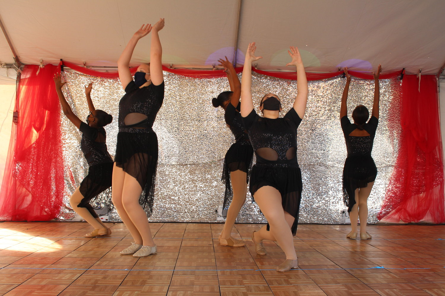 Dancers from Pat's Dance Studio, on Church Street in Baldwin, performed at an outdoor, socially distanced recital on Nov. 14.