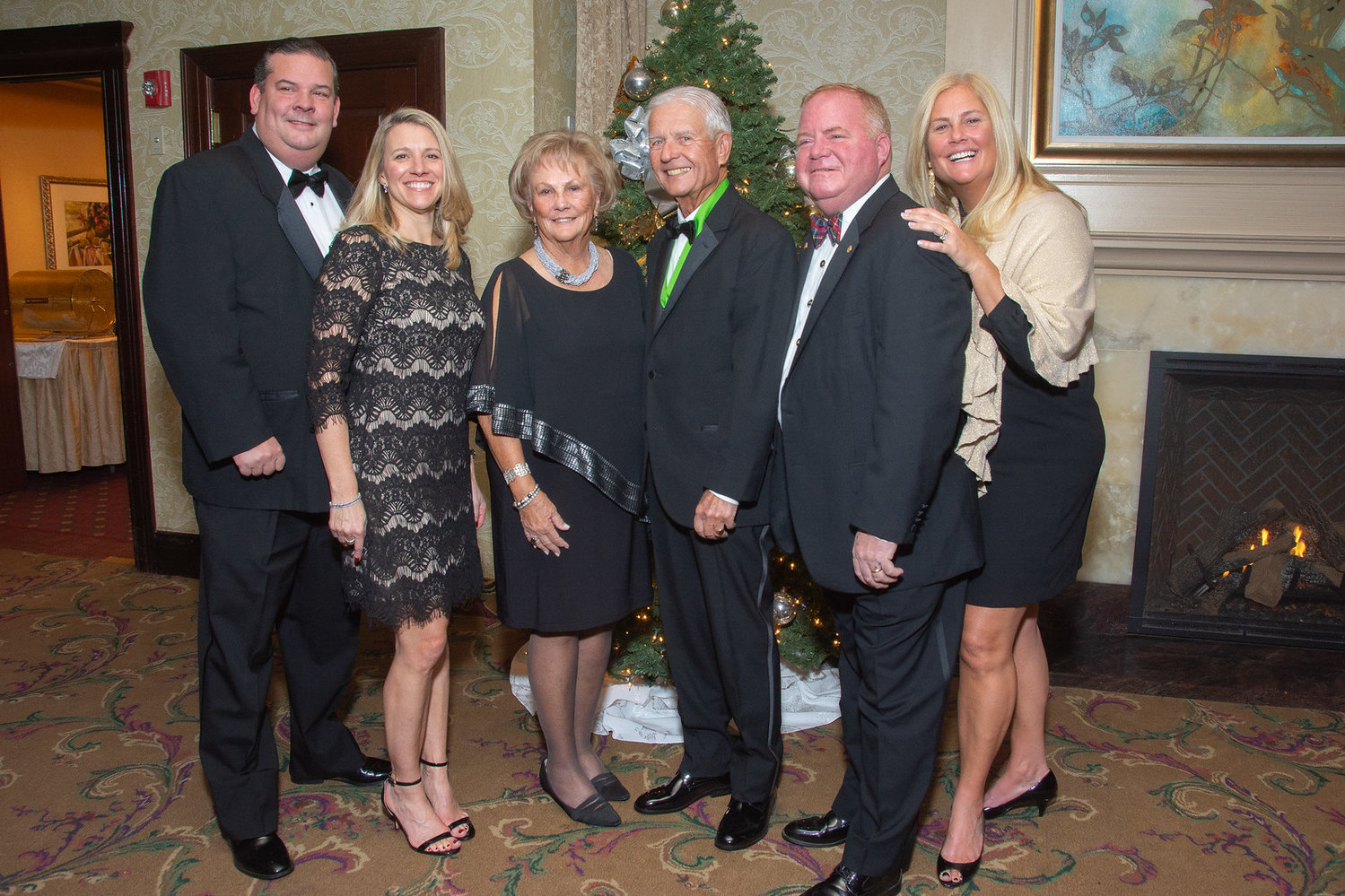 From left: Jim & Lara McCarthy, Jim & BettyAnn McCarthy, Fran & Mary Beth Darcy at the 2019 Mercy Ball.