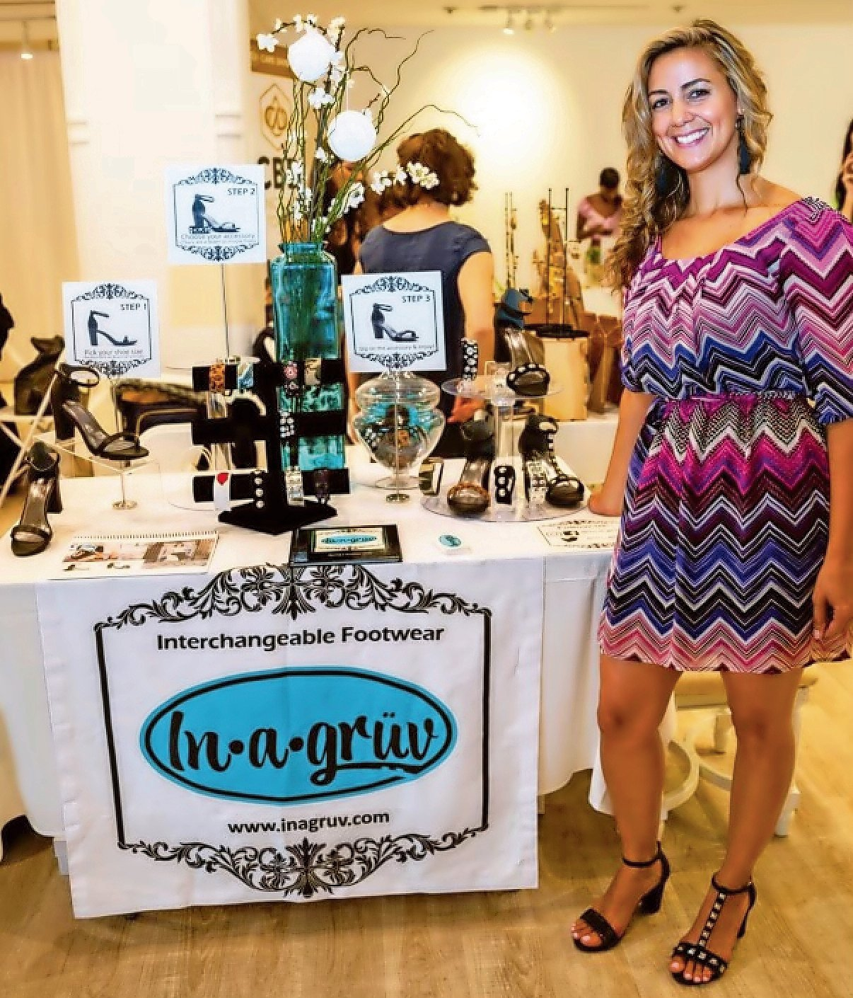 In-A-Gruv owner Ada Duran is offering a pair of black heels and a set of shoe accessories on the wish list.
