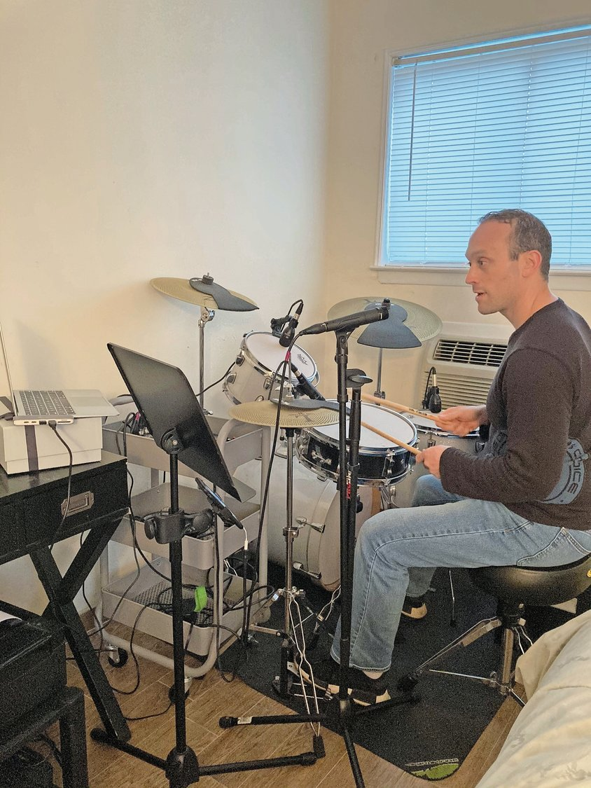 Wish list users can sign up for three 30-minute virtual drum sessions with local musician Logan Michaels.