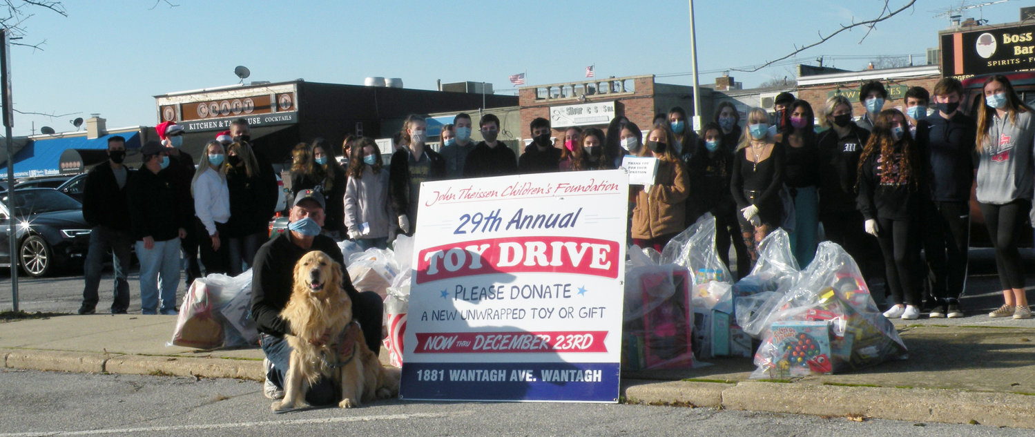Wantagh High School Key Club members hosted a drive-through toy donation for the John Theissen Children's Foundation last Saturday.