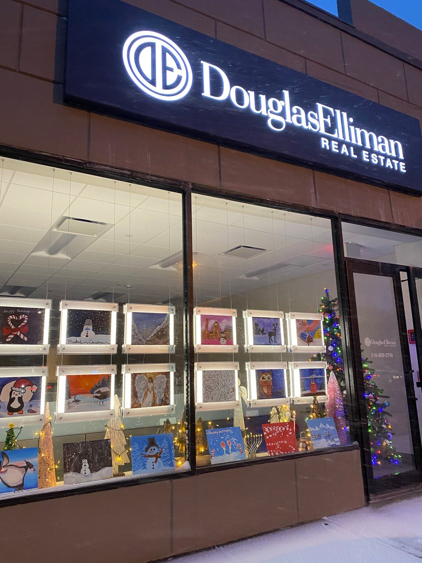 The paintings were on display at Douglas Elliman Real Estate, 304 Merrick Rd. in Rockville Centre.