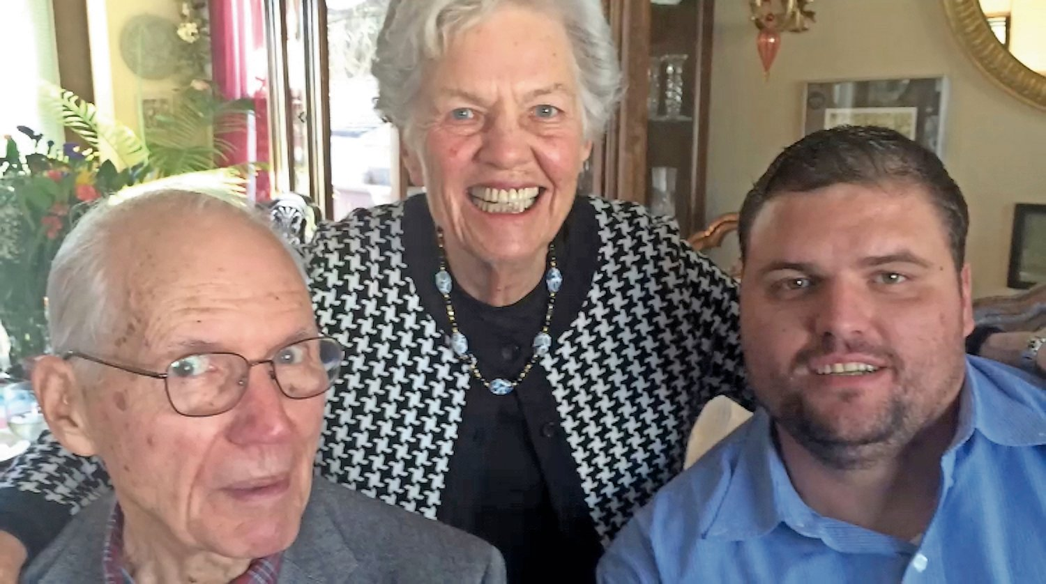 Luce was predeceased by her husband, Robert, left. With them was their grandson Daniel Bowker, a teacher at Merrick Avenue Middle School.